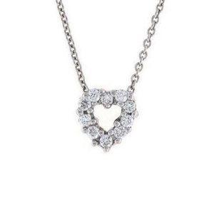 Jewelry - Round Diamond Heart Necklace Pendant Gold 14K 2 Ca